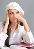 Bored studentenmeisje. Royalty-vrije Stock Foto's