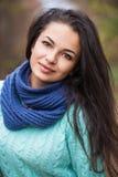 Mooi donkerbruin vrouwenportret Royalty-vrije Stock Fotografie