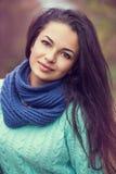 Mooi donkerbruin vrouwenportret Stock Foto