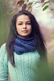 Mooi donkerbruin vrouwenportret Royalty-vrije Stock Afbeeldingen