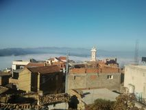 Mooi dorp in Algerije Royalty-vrije Stock Afbeelding