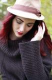 Mooi dragend een hoed Royalty-vrije Stock Foto