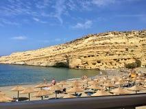Mooi eiland in Europa met een super strand dichtbij de hoge berg royalty-vrije stock foto