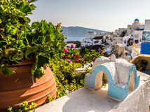 Mooi eiland Santorini Stock Foto's