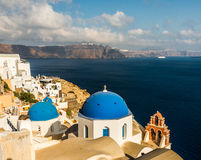 Mooi eiland Santorini Royalty-vrije Stock Foto