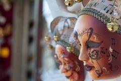 Mooi elegant Venetiaans Carnaval-masker in Venetië, Italië Royalty-vrije Stock Afbeelding