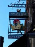MOOI EMBLEEM IN BAR IN LONDEN royalty-vrije stock afbeelding