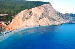 Mooi en beroemd strand Stock Foto's