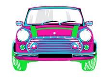 Mooi en een roze auto vector illustratie