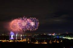 Mooi en kleurrijk nieuw jaar firewoks stock fotografie
