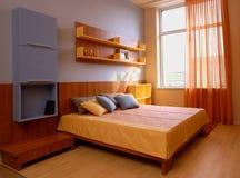 Mooi en modern slaapkamer binnenlands ontwerp. Royalty-vrije Stock Fotografie