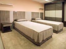 Mooi en modern slaapkamer binnenlands ontwerp. Stock Afbeeldingen