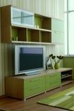 Mooi en modern woonkamer binnenlands ontwerp. Stock Afbeelding