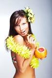 Mooi exotisch meisje Royalty-vrije Stock Fotografie