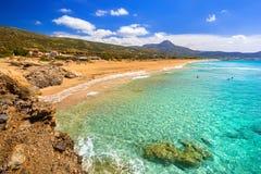Mooi Falassarna-strand op Kreta Stock Fotografie