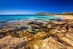 Mooi Falassarna-strand op Kreta Stock Foto