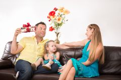 Mooi familieportret Royalty-vrije Stock Foto