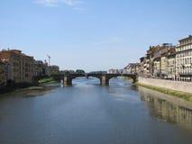 Mooi Florence, Italië langs Arno River stock foto's