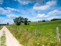 Mooi Frans landelijk landschap Stock Afbeeldingen