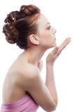 Mooi freckled meisje Stock Afbeelding