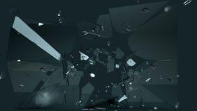 Mooi gebarsten en gebroken glas met langzame motie royalty-vrije illustratie