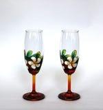 Mooi gekleurd wijnglas Royalty-vrije Stock Afbeeldingen