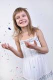 Mooi gelukkig meisje royalty-vrije stock foto's