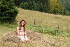 Mooi gelukkig meisje royalty-vrije stock foto