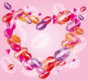 De lippen van het hart Vector Illustratie