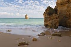mooi gezicht op verborgen geheim deel van het strandachtergrond van Camilo royalty-vrije stock afbeelding