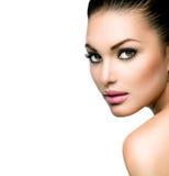 Mooi gezicht van jonge vrouw Royalty-vrije Stock Afbeelding