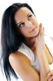 Mooi gezicht van jonge vrouw Stock Afbeelding