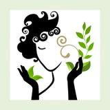 Mooi gezond vrouwenpictogram stock illustratie