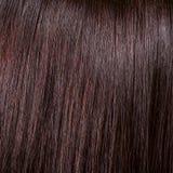 Mooi glans zwarte haarachtergrond en textuur Royalty-vrije Stock Foto