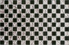 Mooi glasmozaïek voor reparatie van zwart-witte elementen stock fotografie