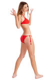 Mooi glimlachend bikinimeisje Royalty-vrije Stock Foto