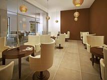 Mooi gloednieuw Europees restaurant Royalty-vrije Stock Foto