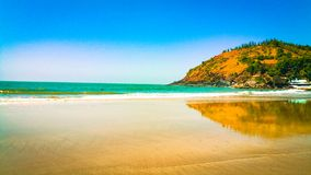 Mooi Gokarna-strand in karnataka, India stock foto's