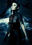 Mooi Gotisch Meisje royalty-vrije stock afbeelding