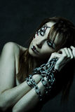Mooi gotisch meisje stock fotografie