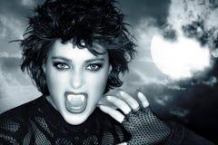 Mooi Gotisch Meisje Vrouwelijke weerwolf stock afbeelding