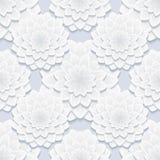 Mooi grijs naadloos patroon met bloemen Royalty-vrije Stock Afbeeldingen