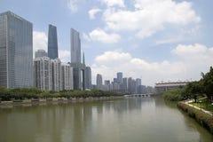 Mooi Haixinsha-Park in stad Guangzhou China stock fotografie
