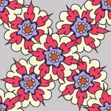 Mooi hand getrokken bloemen naadloos patroon Royalty-vrije Stock Foto