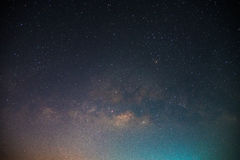Mooi Heelal Verbazend heelal Nachthemel met veel Sterren Mooie melkweg stock foto's