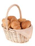 mooi heerlijk brood in de mand Royalty-vrije Stock Foto's