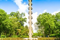 Mooi Herastrau-Park van Boekarest, Roemenië in een de lentedag royalty-vrije stock foto's