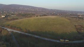 Mooi het dorps luchtschot van Hongarije stock videobeelden