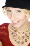 Mooi het glimlachen dameportret Stock Foto