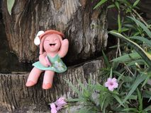 Mooi het Glimlachen Doll Royalty-vrije Stock Afbeelding